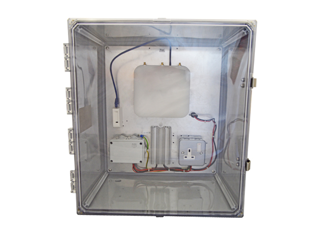 Heated enclosure web small
